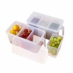 3 Compartment Refrigerator Box & Refrigerator Organizer Container & Food Storage Organizer Boxes