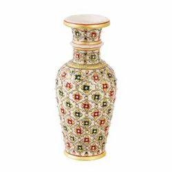 Antique White Marble Flower Vase