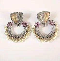Designer Antique Round Earrings