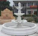 White Outdoor Stone Fountain