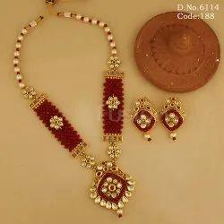 Traditional Kundan Pendant Set