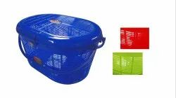 Round Plastic Silpi Basket For Home, Design/Pattern: Plain