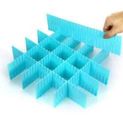Plastic Grid Drawer Divider Household Storage