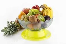 Plastic Revolving Vegetable And Fruit Basket Bowl