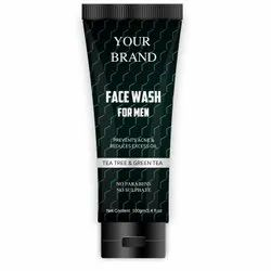 Tea Tree,Green Tea Black Men Face Wash, Age Group: Adults, Packaging Size: 100 Ml