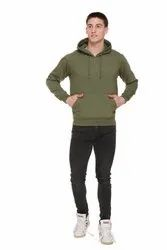HARBORNBAY Men''s Fleece Hooded Sweatshirt Olive Green