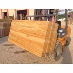 Yellow Polished Khatu Teak Sandstone