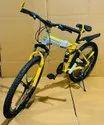 Yellow Audi Foldable Cycle