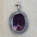 925 Sterling Silver Labradorite Gemstone Jewelry Handmade Pendant SJWP-86