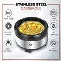 Daacchi Silver Stainless Steel Insulated Casserole