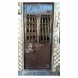 Mild Steel Powder Coated MS Safety Double Door, Thickness: 7.5 Cm