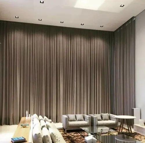Brown Plain Black Out Arabian Curtain, Black And Brown Curtains