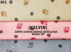 Kelvin 100% Cotton Kelvin Drill Print Shirting Fabric