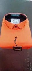 Spitzer Cotton Men's Plain Orange Shirt
