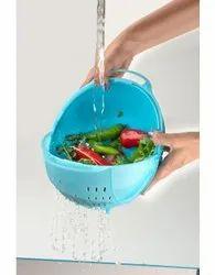 Blue Round Vegetable Wash Bowl