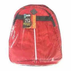 Racer Plain Red School Bag, For College