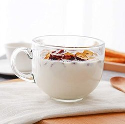Transparent Cappuccino Coffee Glass Cup, For Home, Capacity: 280 Ml