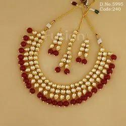 Antique Handmade Kundan Necklace Set