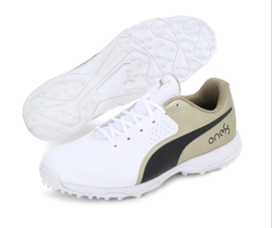 Puma 19 F H Gold Black Rubber Cricket Shoes
