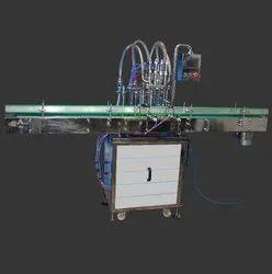 Automatic 4 Head Sanitizer / Liquid Filling Machine