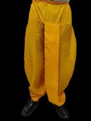 Border White and Yellow Mens Cotton Dhoti, Size: Free Size