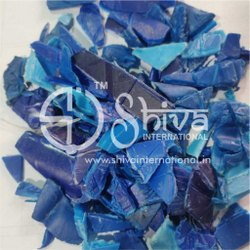 SHIVA 50-60 Reprocessed HDPE Blue Drum Regrind, For Plastic Industry, Grade: Blow
