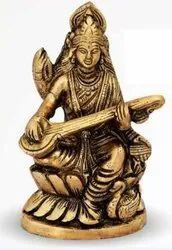 1050 Gm Brass Statue Saraswati Ji