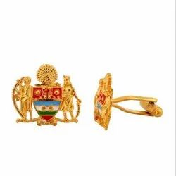 Mayo College Coat Of Arms Silver And Enamel Cutout Cufflinks
