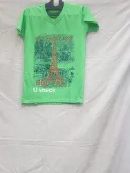 Mens V Neck Print Tshirt