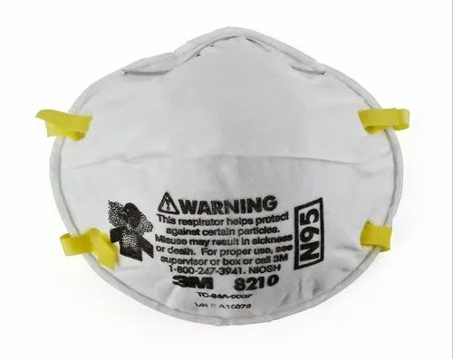 Disposable 3M 8210 N95 Particulate Respirator, Certification: NIOSH, Non-Oil