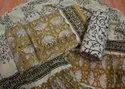 Yellow And Golden Cotton  Women Suits