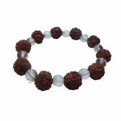 5 Mukhi Rudraksha Crystal Bracelet