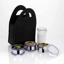Steel 4 Container Lunch Box