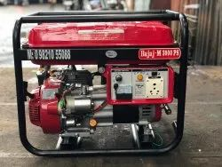 3 KW Bajaj-M Self Start Open Petrol Portable Generator Set