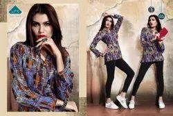 3/4th Sleeve Casual Wear Mittoo Pretty Girl Vol 9 Rayon Kurtis