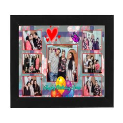 Synthetic Wood Printed Photo Frame, Size: 12x18 Inch