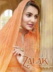 Kala Fashion Zalak Pure Maslin Dyed With Sequance And Thread Work Suits Catalog