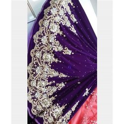 Velvet Wedding Wear Ladies Designer Stylish Lehenga