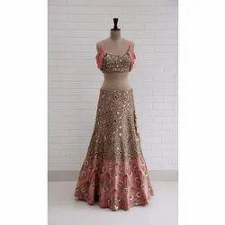Net Wedding Wear Ladies Fish Cut Lehenga Choli
