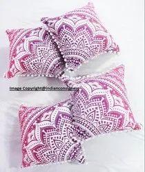 Round Mandala Cushion Ethnic Cover