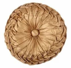 Designer Golden Brown Satin Cushion Cover