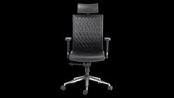 Leather Black Godrej Office Chair - Elite High Back Chair