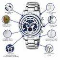 Duke Silver Chronograph Watch