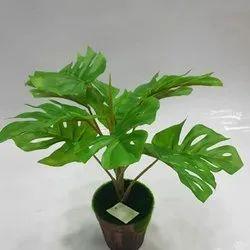 Monstera Deliciosa Artificial Potted Plant, For Decoration