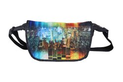 POLYESTER Adjustable BagsRUs City Lights Black Office Casual Messenger Bag (MG103FBL), 400 Gram, Size: 38 X 25 X 13 Cm