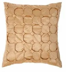 Golden square handmade cushion cover