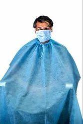 Blue Disposable Hair Cutting  Apron