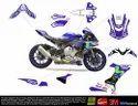 Yamaha R1 R1m Movistar Design 2015-2019 Model Full Body Wrap Decal Sticker