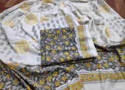 Designer Printed Unstitched Cotton Suit