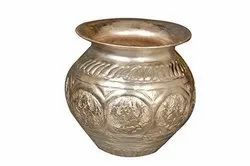Plain Round Nutristar Pure Copper Lota / Silver Coated Copper Kalash, For Home